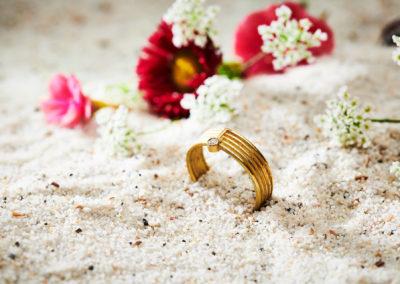 Ring in 750/000 Gelbgold mit Brilliant