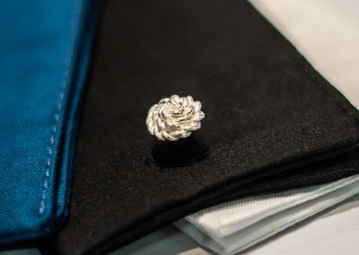 Manschettenknöpfe in 925/000 Silber